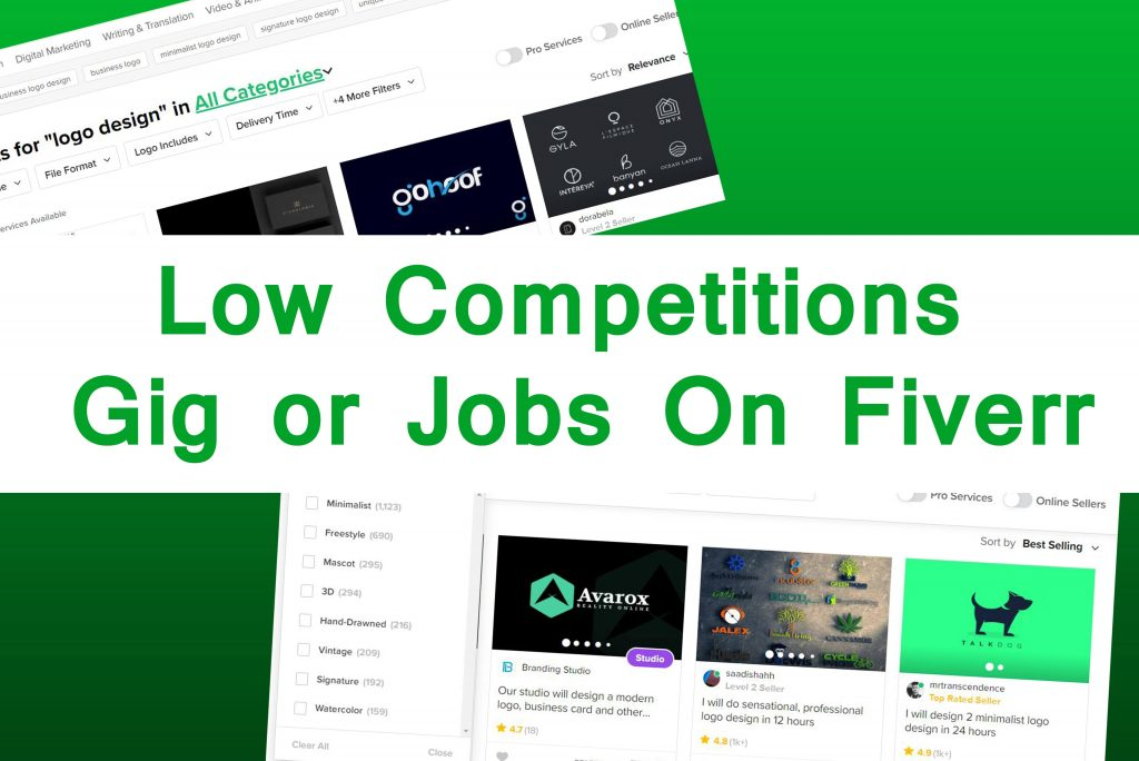 low competitions gig or jobs on fiverr