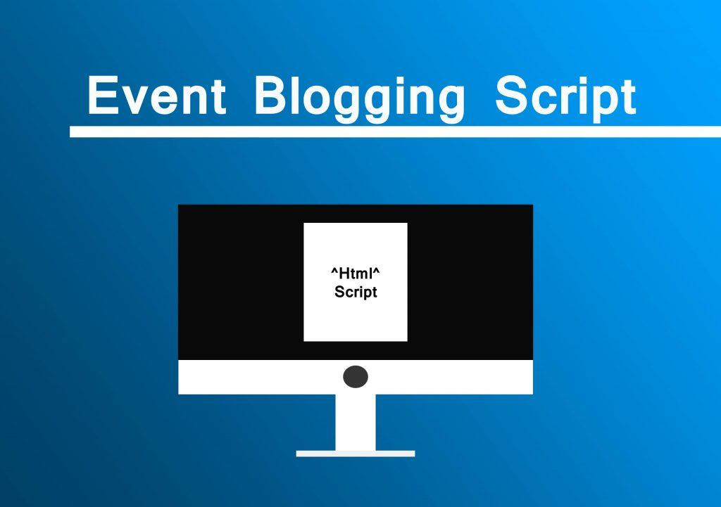 create an event blogging Script