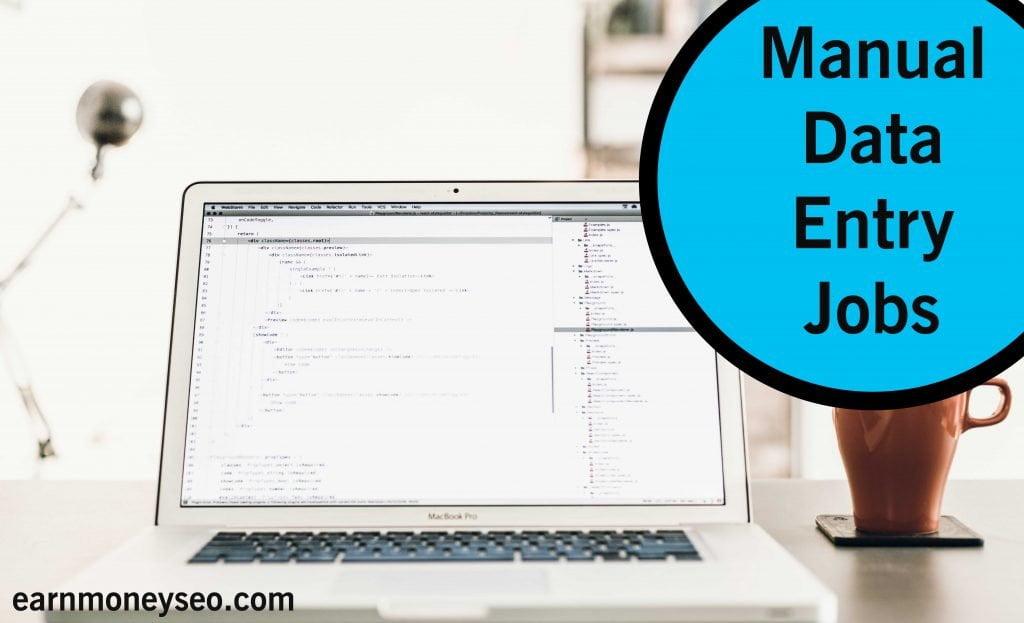 manual data entry jobs
