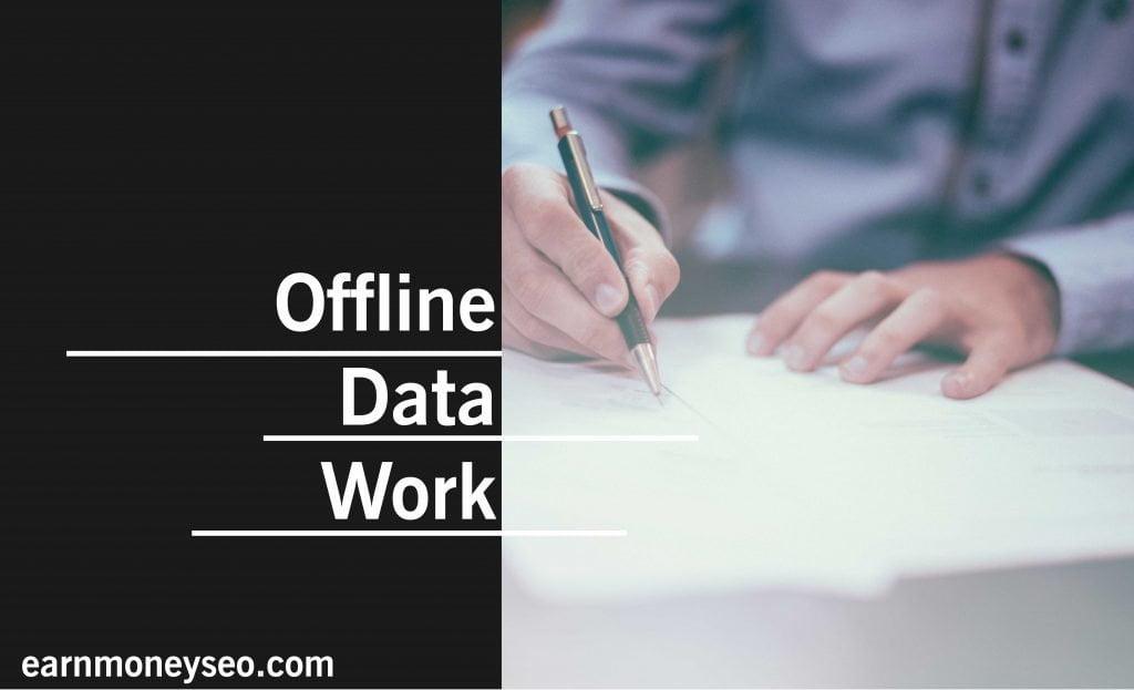 offline data work