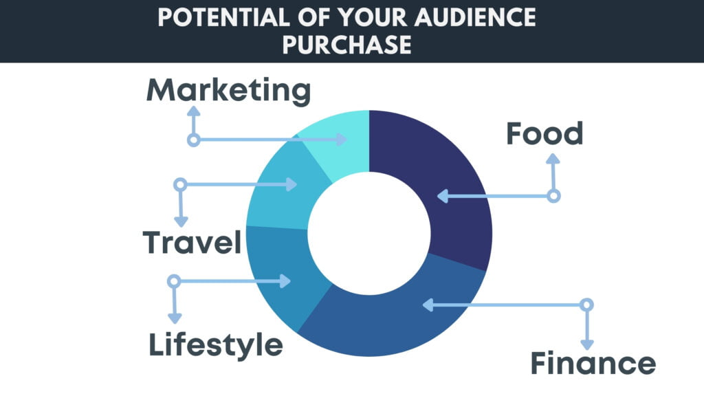 Potential of your audience purchase